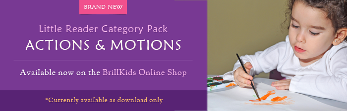 Little Reader Category Pack - Actions & Motions: Available now at the BrillKids Online Shop