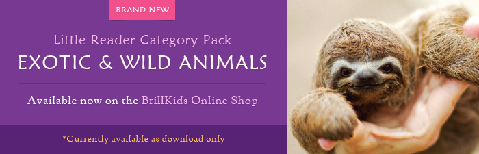 Little Reader Category Pack - Exotic & Wild Animals: Available now on the BrillKids Online Shop