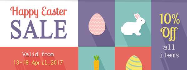 Easter Sale! 10% OFF!