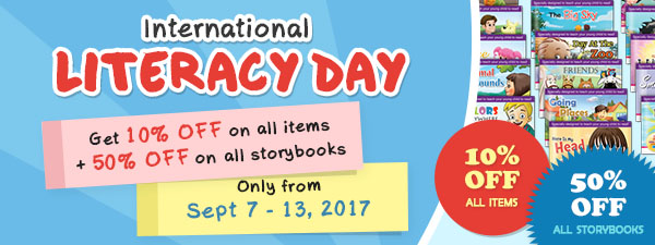 International Literacy Day Promotion - 10% OFF All Items!
