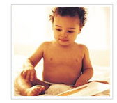 Picture of baby reading
