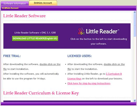 Little Reader Manual